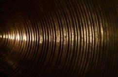 Struttura d'ottone del piatto Fotografie Stock