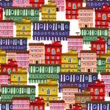 Struttura dalle case della città Illustrazione di Stock
