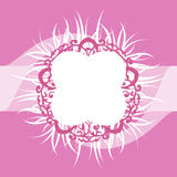Struttura decorata bianca e di rosa della piuma Fotografia Stock Libera da Diritti