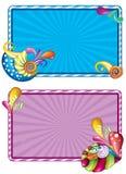Struttura decorata di colori Immagini Stock