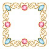 Struttura decorativa dei gioielli Fotografie Stock
