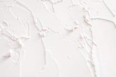 Struttura decorativa del gesso, contesto bianco di sollievo Fotografie Stock Libere da Diritti
