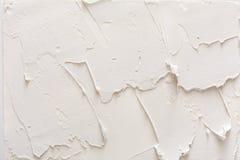 Struttura decorativa del gesso, contesto bianco di sollievo Fotografia Stock Libera da Diritti