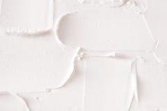 Struttura decorativa del gesso, contesto bianco di sollievo Immagine Stock Libera da Diritti