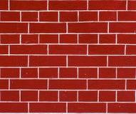 Struttura decorativa del mattone rosso Immagini Stock Libere da Diritti
