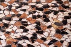 Struttura decorativa della pavimentazione, modello delle pietre della ghiaia Fotografia Stock Libera da Diritti