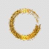 Struttura decorativa rotonda di scintillio dorato di vettore Immagine Stock