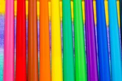 Struttura degli indicatori colorati differenti in una fila Fotografie Stock