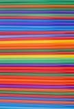 Struttura dei bastoni colorati del cocktail coni retinici orizzontali colorati Fotografie Stock