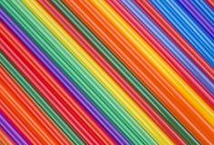 Struttura dei bastoni colorati del cocktail obliquamente colore della banda Fotografie Stock Libere da Diritti