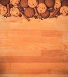 Struttura dei biscotti del biglietto di S. Valentino o di Natale con spazio vuoto per il testo di progettazione Biglietti di S. V Fotografia Stock Libera da Diritti
