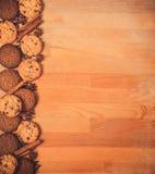 Struttura dei biscotti del biglietto di S. Valentino o di Natale con spazio vuoto per il testo di progettazione Biglietti di S. V Fotografia Stock