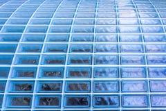 Struttura dei blocchi di vetro nella prospettiva Fotografie Stock Libere da Diritti