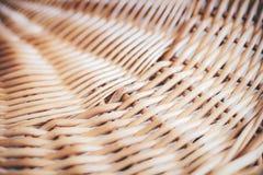Struttura dei canestri di vimini Fotografia Stock