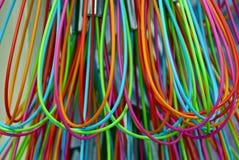 Struttura dei cavi colorati sottili in isolamento Fotografie Stock Libere da Diritti