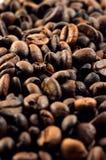 Struttura dei chicchi di caffè. Fotografia Stock