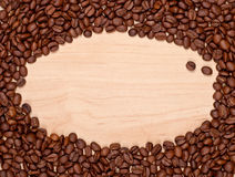 Struttura dei chicchi di caffè Fotografia Stock