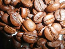 Struttura dei chicchi di caffè Fotografia Stock Libera da Diritti