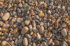 Struttura dei ciottoli da una riva della spiaggia Immagine Stock Libera da Diritti