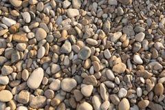 Struttura dei ciottoli da una riva della spiaggia Fotografia Stock Libera da Diritti