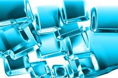Struttura dei cubi di ghiaccio Immagini Stock