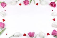 Struttura dei cuori dei tulipani fotografia stock libera da diritti