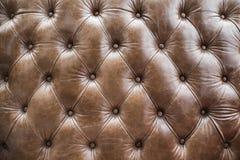 Struttura dei diamanti del sofà di cuoio invecchiato Immagine Stock Libera da Diritti