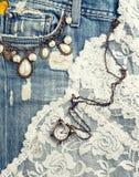 Struttura dei jeans Fotografia Stock Libera da Diritti