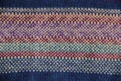 Struttura dei lavori o indumenti a maglia Fotografie Stock Libere da Diritti
