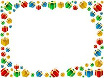 Struttura dei regali di natale isolata su fondo bianco illustrazione vettoriale