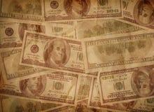 Struttura dei vecchi soldi Fotografie Stock Libere da Diritti