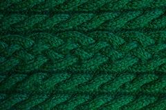 Struttura dei vestiti tricottati verdi caldi di inverno fotografia stock libera da diritti