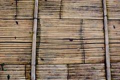 Struttura del bambù del pavimento di Brown fotografie stock libere da diritti