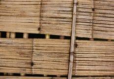 Struttura del bambù del pavimento di Brown fotografia stock libera da diritti