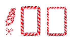 Struttura del bastoncino di zucchero del nuovo anno e di Natale royalty illustrazione gratis