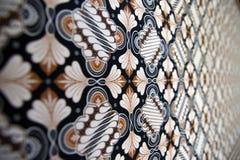 Struttura del batik (sfuocatura) Fotografie Stock Libere da Diritti