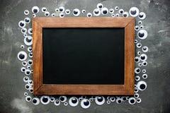 Struttura del bulbo oculare con la lavagna in bianco per testo fotografia stock libera da diritti