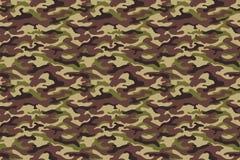 Struttura del cammuffamento dell'esercito, colori marroni verdi Illustrazione di vettore Fotografia Stock Libera da Diritti