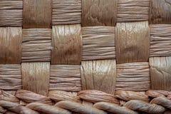 Struttura del canestro di vimini, fibra di pianta naturale, BO fatta a mano [ fotografie stock