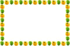 Struttura del capsico di verde giallo Fotografia Stock