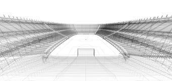 Struttura del cavo di calcio o di stadio di calcio Immagini Stock Libere da Diritti