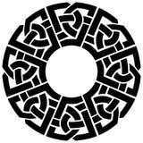 Struttura del celtico del cerchio Immagini Stock Libere da Diritti