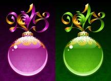 Struttura del cerchio del nuovo anno e di Natale 2015 Fotografie Stock