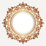 Struttura del cerchio dell'oro su bianco Immagini Stock