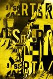 Struttura del collage del fondo o della carta da parati di progettazione di tipografia Fotografia Stock
