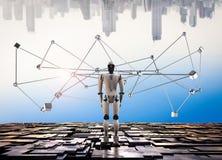 Struttura del collegamento del robot fotografia stock libera da diritti
