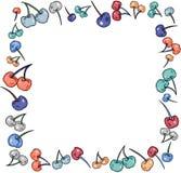 Struttura del confine fatta delle ciliege colourful illustrazione di stock