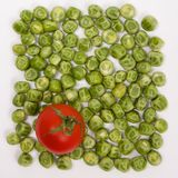 Struttura del confine del fondo dell'alimento delle verdure crude variopinte dei prodotti freschi Fotografie Stock