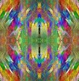 struttura del cristallo dell'arcobaleno Priorità bassa multicolore luminosa Astrazione di frattale Reticolo senza giunte simmetri Fotografia Stock Libera da Diritti