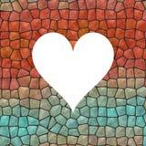 Struttura del cuore del mosaico nel colore blu e rosso illustrazione di stock
